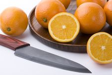 Free Oranges And Knives Royalty Free Stock Photos - 17884468