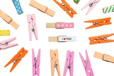 Free Colorful Clothespin Stock Images - 17884514