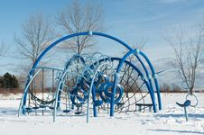 Free Playground Equipment In Winter Stock Photo - 17884610