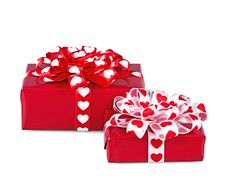 Free Perfectly Packed Two Gifts Royalty Free Stock Images - 17884769