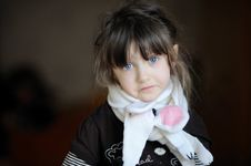 Free Beauty Sad Girl In White Scarf Stock Photos - 17884923