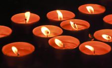 Free Valentine S Day Candles Royalty Free Stock Photos - 17885208