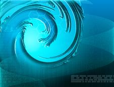 Blue Abstract Digital Royalty Free Stock Photos