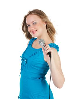 Free Girl Singing Stock Photography - 17886462