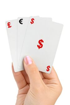 Free Hand And Money Cards Stock Image - 17886731