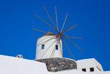 Free Santorini Windmill Stock Photography - 17886802