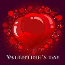 Free Valentine`s Card Royalty Free Stock Photos - 17888968