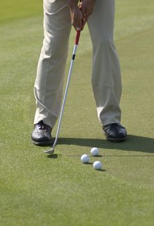 Free Putt Practice Royalty Free Stock Photos - 17889028
