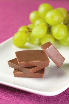 Free Chocolate And Grapes Stock Photos - 17889333