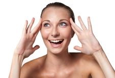 Free Surprised Eurasian Woman Stock Photography - 17889392