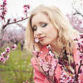 Free Girl In Spring Garden Stock Images - 17895474