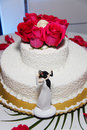 Free Small Pretty Wedding Cake- Modern Stock Photos - 17895973