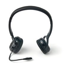 Free Black Headphones Isolated On A White Background Stock Image - 17890061