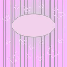 Free Butterfly On A Pink Background Royalty Free Stock Image - 17890236