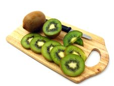 Free Fresh Sliced & Whole Kiwi Fruits Stock Photo - 17890840