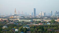 Various Views Of Buildings And Bridges Stock Image