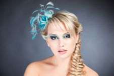 Free Portrait Of Blond Woman With Accessories Royalty Free Stock Photography - 17891067