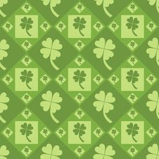 Free Cute Clover Pattern Royalty Free Stock Images - 17891109
