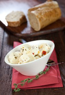 Free Feta Cheese And Baguette Royalty Free Stock Photography - 17891167