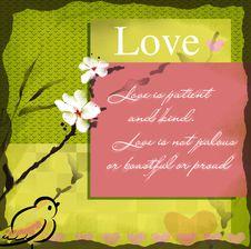Free Love Wishing Card Royalty Free Stock Photos - 17891368