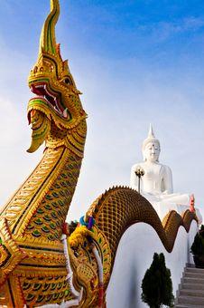 Free Statue Of Buddha In Saraburi Thailand. Stock Image - 17891401