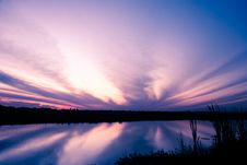 Free Dramatic Sky After Sunset Reflection Royalty Free Stock Image - 17891696