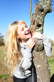 Free Laughing In The Autumn Sun Stock Photography - 17891842