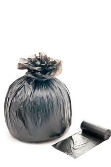 Free One Garbage Bag Royalty Free Stock Photos - 17892078