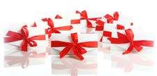 Free Gift Envelope With Awesome Red Bow Royalty Free Stock Photo - 17892805