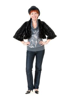 Free Girl In Fur Coat Royalty Free Stock Photo - 17894115