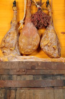 Cured Ham. Stock Photography