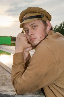Free Portrait Of Soldier In Retro Style Picture Royalty Free Stock Image - 17894826