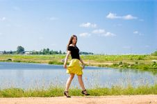 Free Woman At Lake Royalty Free Stock Image - 17894866