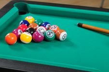 Free Pool Table. Royalty Free Stock Photography - 17895457