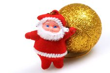 Free Father Christmas Teddy Bear Royalty Free Stock Photo - 17896455
