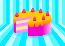 Free Strawberry Cake Royalty Free Stock Images - 17896479