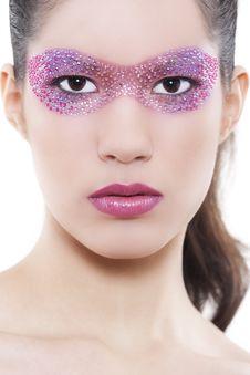 Free Beautiful Woman With Creative Make-up Stock Photo - 17896600