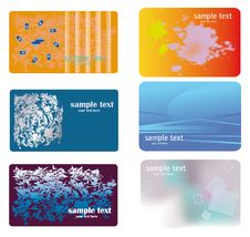 Free Set Of Blue And Orange  Backgrounds Stock Image - 17897141