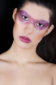 Free Beautiful Woman With Creative Make-up Stock Image - 17897281
