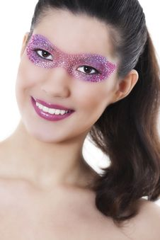 Free Beautiful Woman With Creative Make-up Stock Image - 17897331