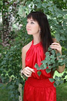 Free Brunette Girl In Red Stock Photography - 17897552