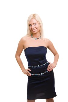 Free Lovely Blond Woman In Dress Stock Photos - 17897833
