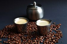 Free Coffee In Metal Cup Royalty Free Stock Photo - 17898145