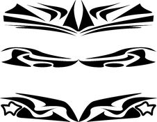 Free Tattoo Design Set Abstract Black Isolated On White Royalty Free Stock Photos - 17898448