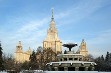 Free Moscow State University Main Building Stock Image - 17898771