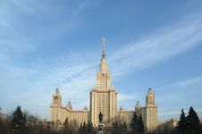 Free Moscow State University Main Building Royalty Free Stock Image - 17898826