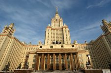 Free Moscow State University Main Building Stock Image - 17898971