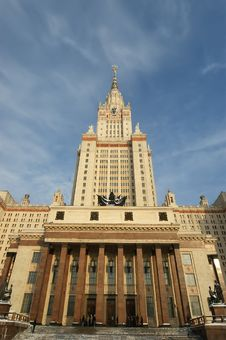Free Moscow State University Main Building Royalty Free Stock Images - 17899009