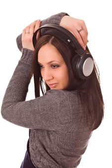 Free Dancing Woman With Headphones Stock Photos - 17899573