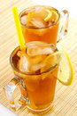 Free Cold Tea With Cubes Of An Ice And A Lemon Stock Photography - 1790422